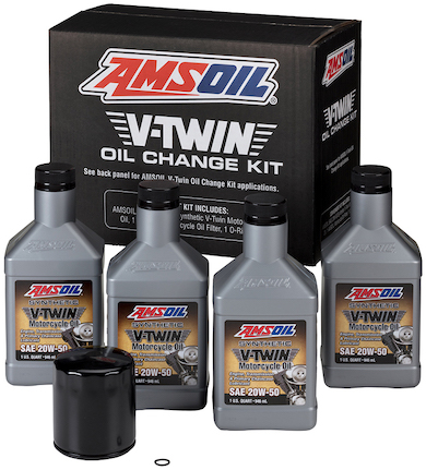 V-Twin Oil Change Kit for Harley Davidson Motorcycle